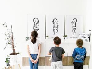 Lievelyne mamablogger van drie kinderen uit Maasmechelen - birthposter