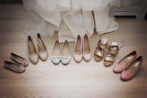 Schoenen bruid en bruidsmeisjes - onze trouwdag