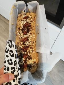Bananenbrood mengsel met proteïne