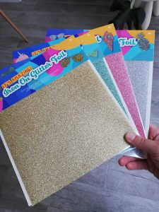Glitter flex folie Action budget aankoop