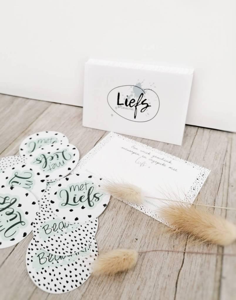 Liefs by Lievelyne - visitekaartjes en stickers