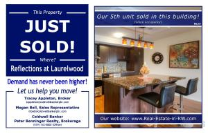 Just Sold at Reflection at Laurelwood