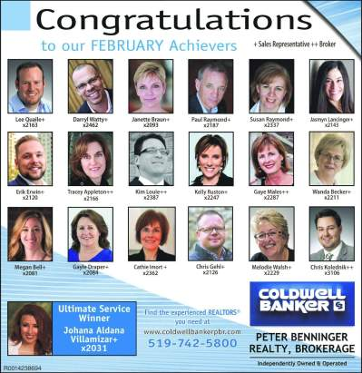 Achievers at Coldwell Banker Peter Benninger Realty