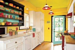 colourful home decor yellow kitchen