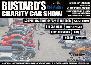 Bustard's Charity Car Show in Support of Kidsability