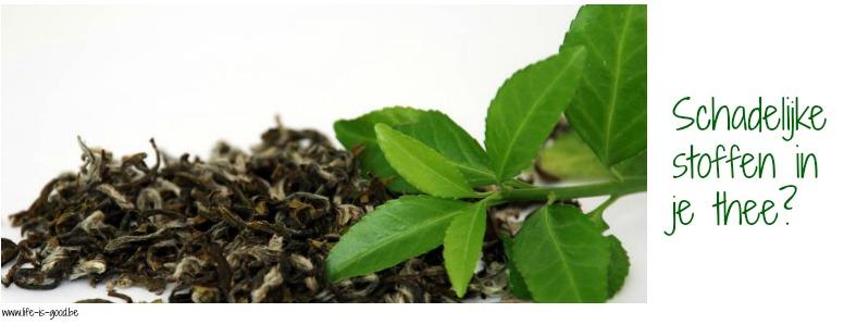 schadelijkestoffen in thee