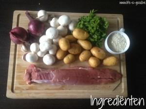 ingredienten varkenshaasje petselie