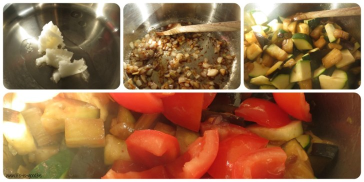 zeeduivel courgette aubergine