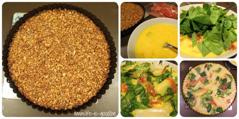 glutenvrije quiche met walnoten