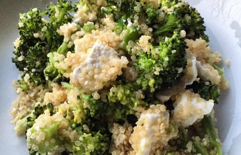 Quinoa met broccoli en feta
