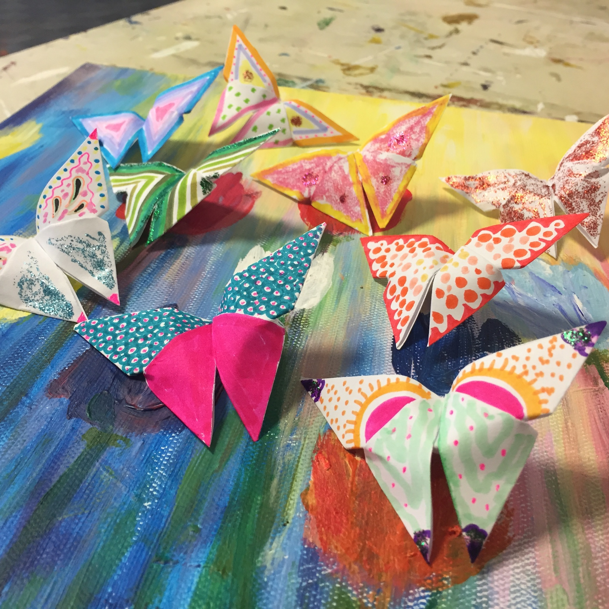 Origami And Painting