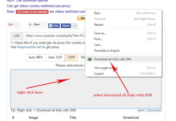 4 Download YouTube Videos  and Playlist without any Software in HD online !