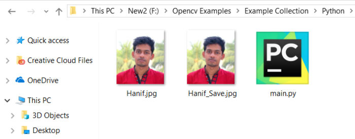How to Save OpenCV Image to a File in Python