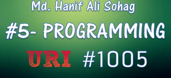 URI Online Judge Solution : 1005 Average 1 (Beginner Problem)