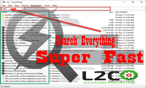 How to search files on windows super fast !!