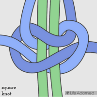 Basic Macrame Stitches: square knot