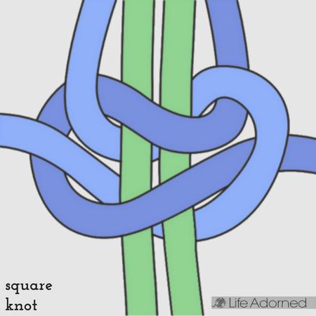 Basic Macrame Stitches: square knot