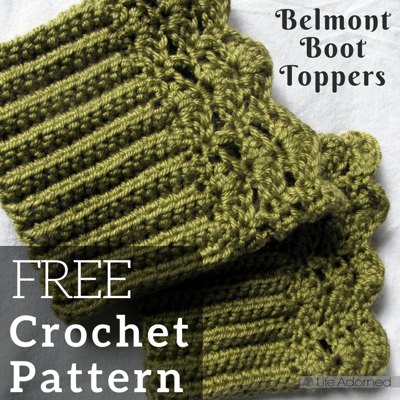 Free Crochet Pattern: Belmont Boot Toppers