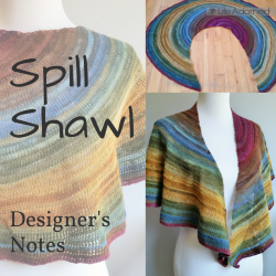 Curious about the specifics on how the Spill crochet shawl is constructed and stitch counts configured? Here I share the details of my design process.