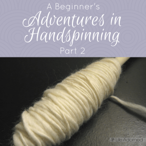 Join me as I take on a new fiber hobby to complement my crochet: handspinning my own yarn. Part 2 includes my first attempt at spinning a single.