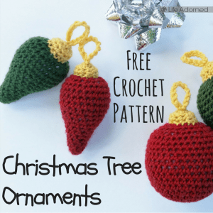 These ornaments are perfect for hanging on the Christmas tree, stringing into a garland, or topping a present. It's a free crochet pattern that's so quick!