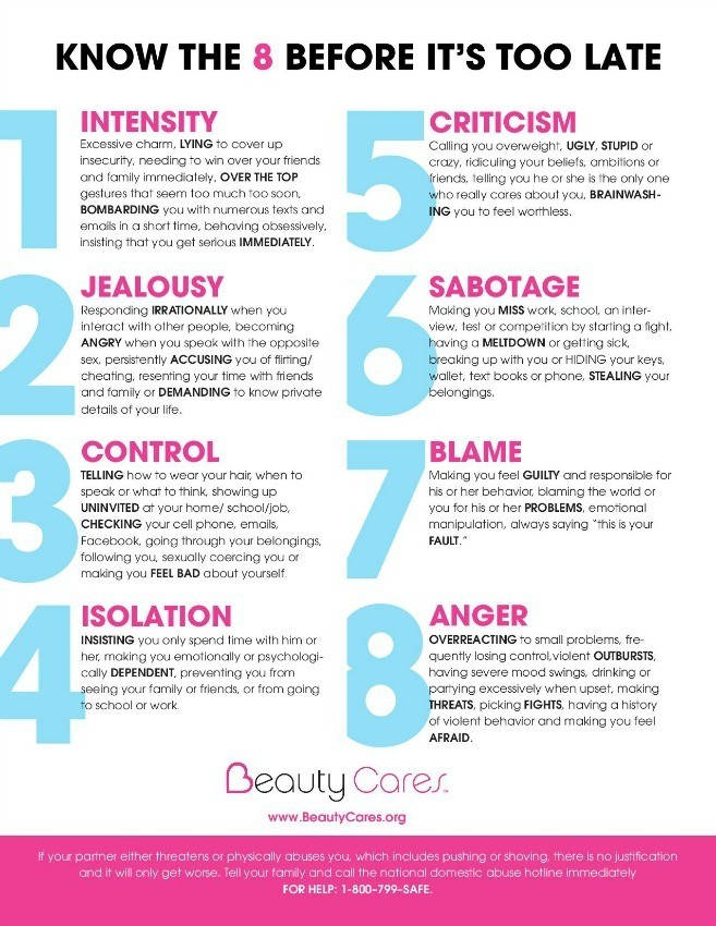 warning signs abusive relationship infographic