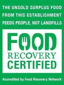 Look for restaurants that are certified for recovering waste and feeding hungry locals