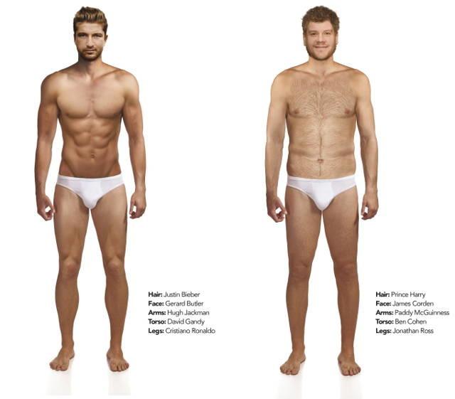 Right perfect male body congratulate