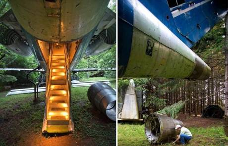 06-Old Boeing Transformed into an Awesome House in the Woods