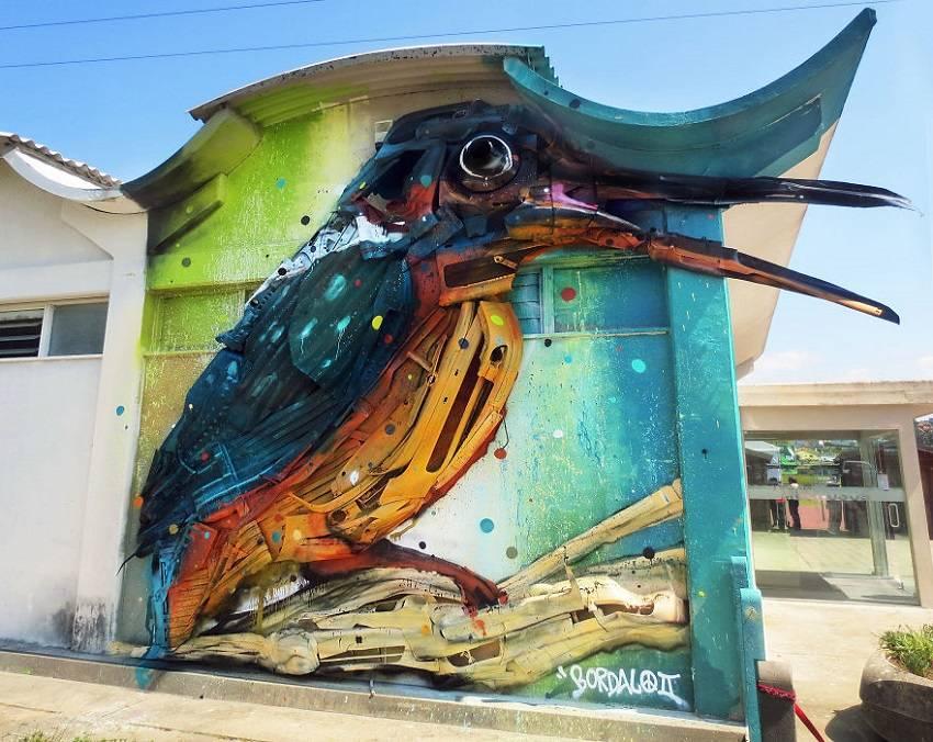 07-Bordalo II - Amazing Street Art Murals From Trash