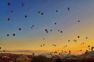 Sunset Cappadocia Turkey