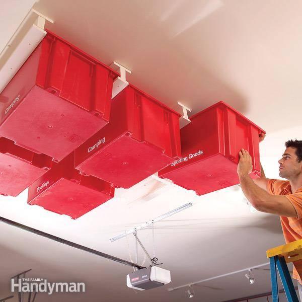 sliding storage in your garage