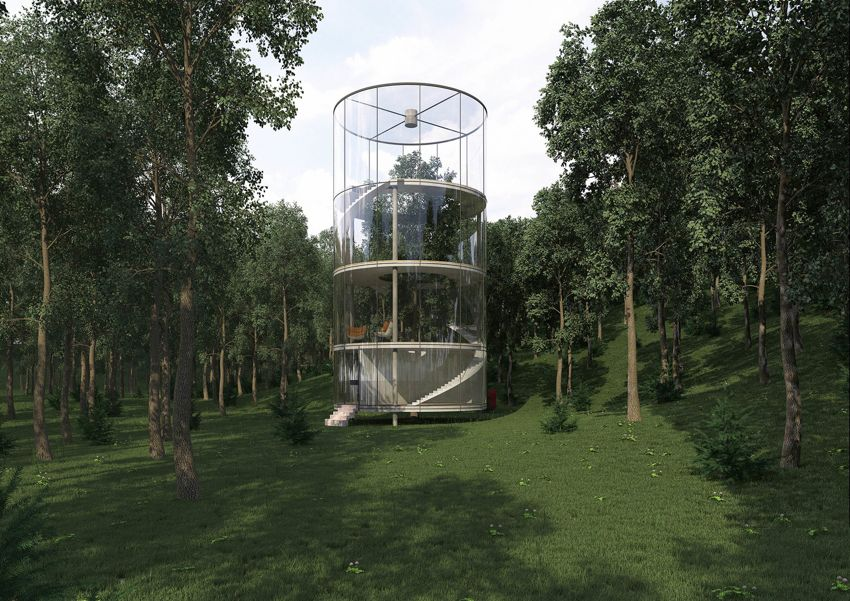 02-Cylindrical Glass House