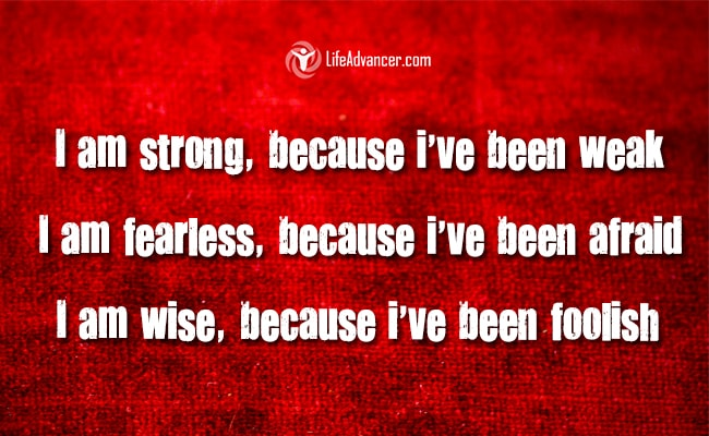 i am strong because