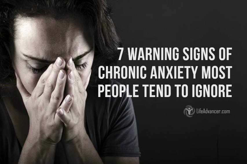 Signs of chronic anxiety