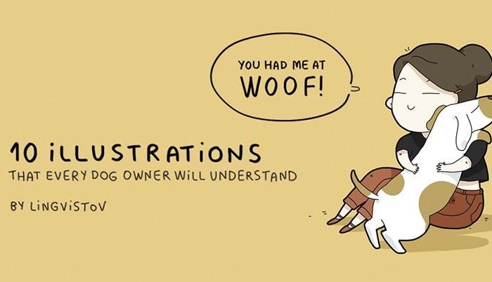 Dog owner funny illustrations