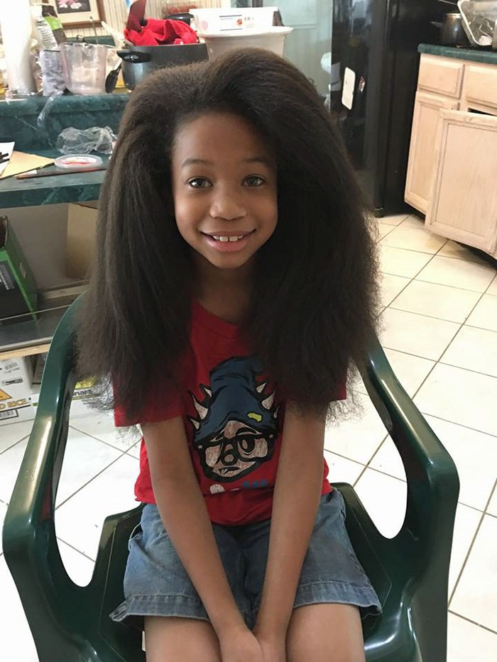 8-year-old boy donated his hair for cancer patients