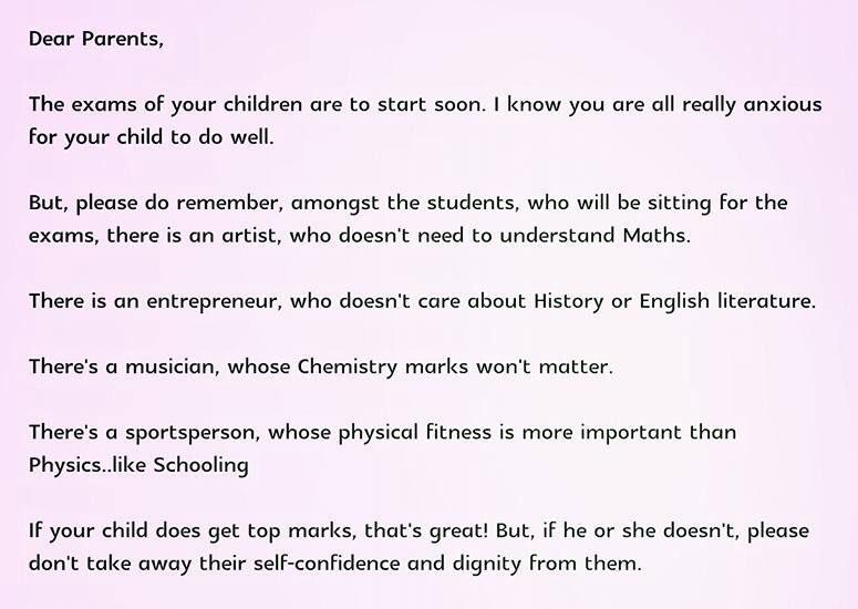 School principal in Singapore powerful message