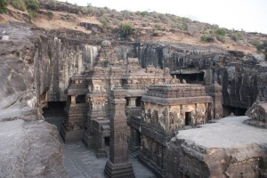 Cities in India: Ellora caves, Photo by Arian Zwegers