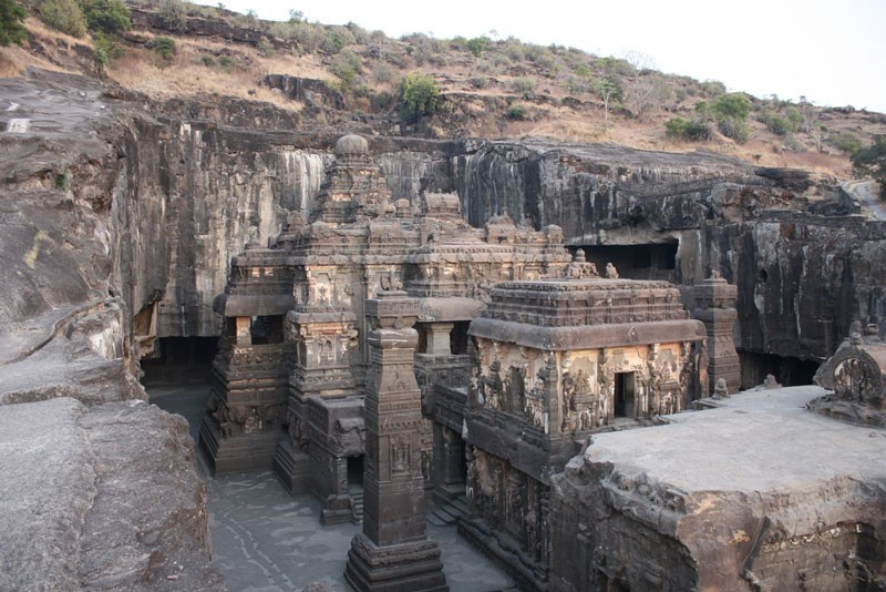 Cities in India - Ellora caves, Photo by Arian Zwegers