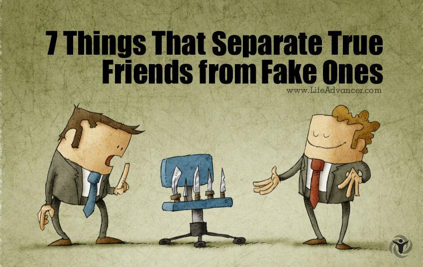 Separate True Friends