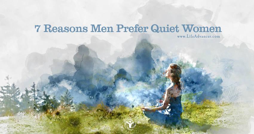 View Larger Image Men Prefer Quiet Women