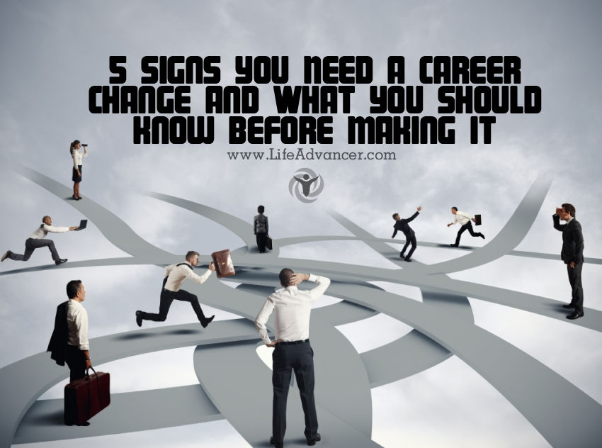 career and life change So it's time for a midlife career change you're at the midpoint of life your first  career leaves you bored, empty or worn out but how do you.