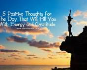 Positive Thoughts for The Day
