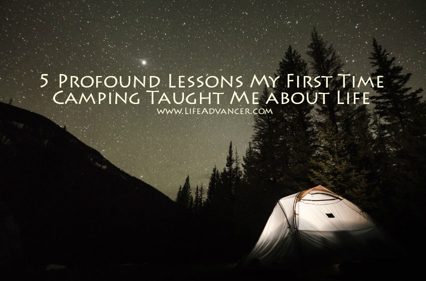 first time camping lessons
