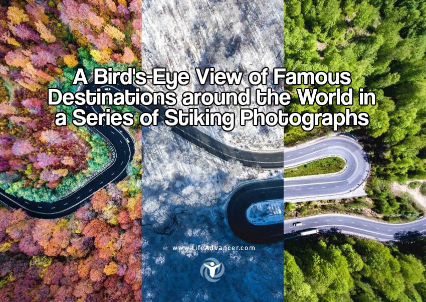 bird's-eye view of Famous Destinations around the World