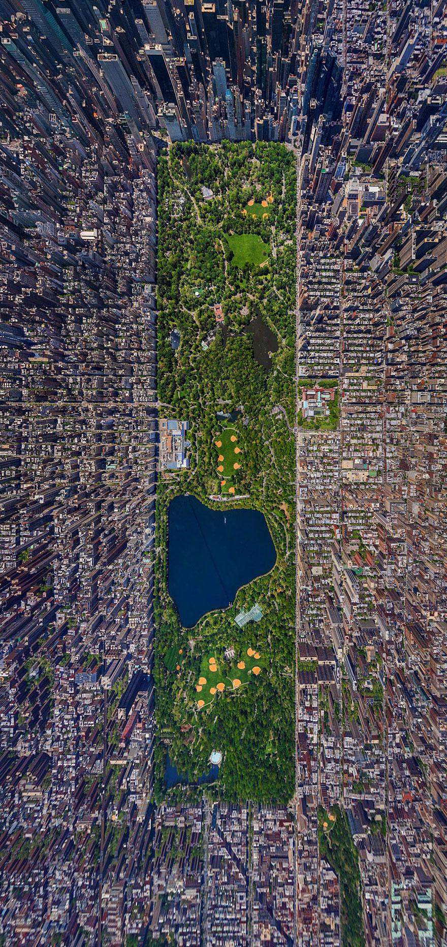 Central Park - bird's-eye view