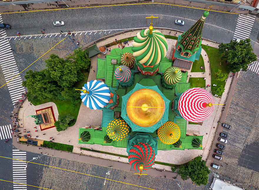 St Basil's Cathedral, Moscow - bird's-eye view