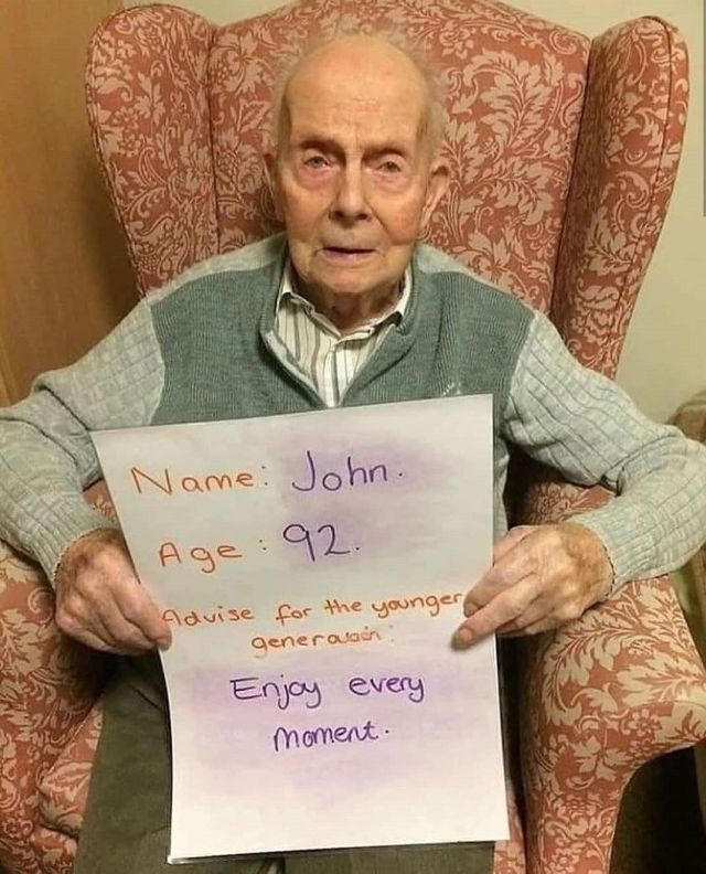 John, age 92 - advice for the younger generation