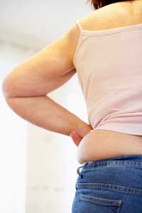 Fat building up around the waist after hysterectomy